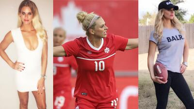 Sensualidad y fútbol: Lauren Sesselmann, la hermosa defensora de Canadá