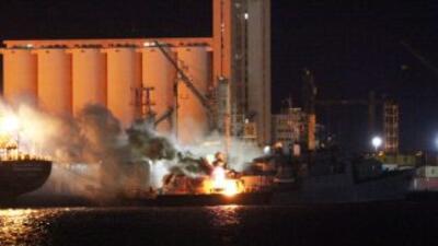 Un periodista de la AFP constató que el puerto de Trípoli, cerca del cen...