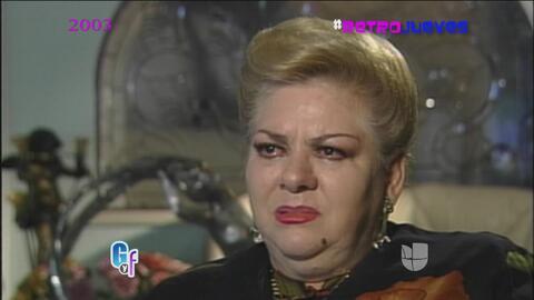 Retrojueves: En 2003, Paquita la del Barrio lloraba frente a nuestras cá...
