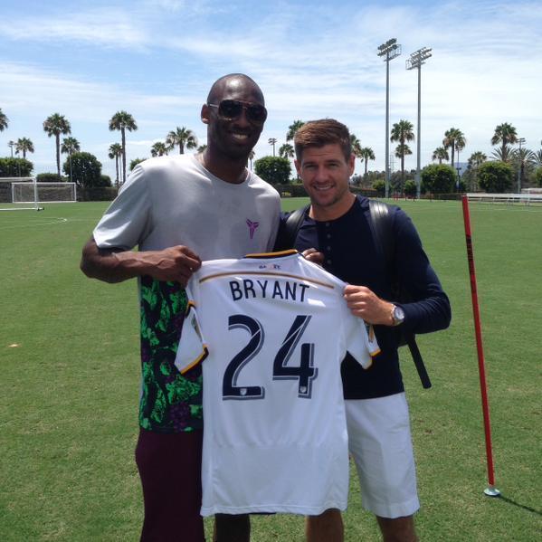 Barcelona entrena en Los Ángeles y se encontraron con Kobe Bryant y el L...