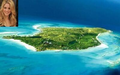 Shakira comparte esta isla que se llama Bonds Cay en Bahamas junto a su...