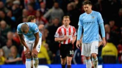 El City sufrió ante el Sunderland, apenas empatando con el colero.
