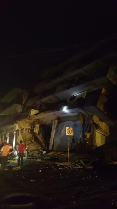 El hotel Ane Centro, en Oaxaca, colapsó totalmente debido al fuer...