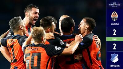 En un partido trepidante, Shakhtar Donetsk y Hoffenheim empataron en Ucrania