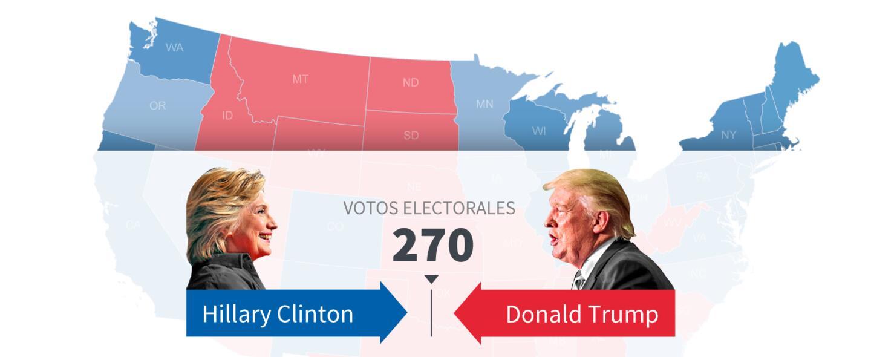 Resultado de imagen para mapa electoral eeuu 2016