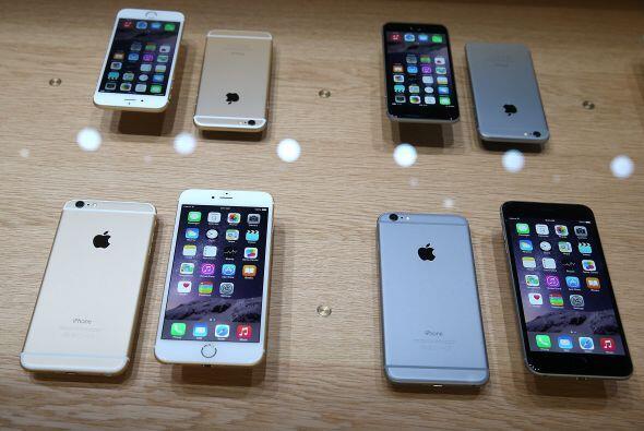 El iPhone 6 vendrá en plateado o dorado en ambos tamaños.