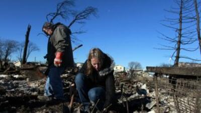 El hucarán Sandy causó severos daños en la costa del noreste de Estados...