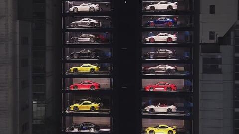 La máquina expendedora de Ferrari, Porsche y Lamborghini en Singapur