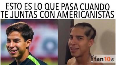 América y Diego Lainez fueron protagonistas de los memes