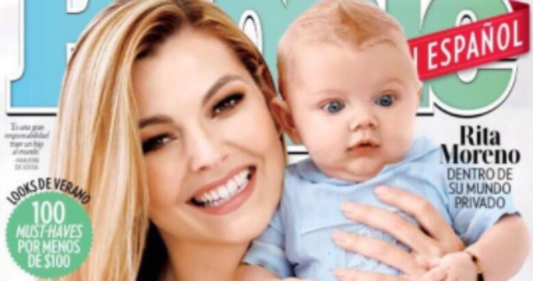 Marjorie de Sousa presenta a su hijo Matías Gregorio Gil en la portada d...
