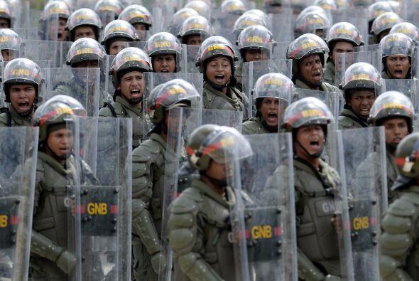 En la parada cívico militar en el Paseo de los Ilustres, en el su...