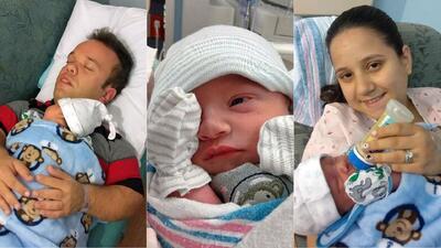 Carlitos El Productor bebé El Gordo y La Flaca
