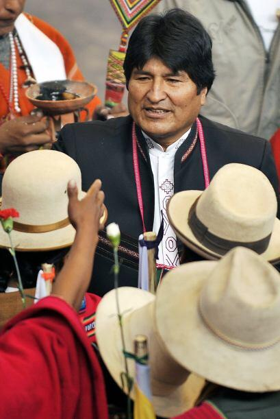 Evo Morales, presidente de Bolivia, es uno de los jefes de Estado que es...