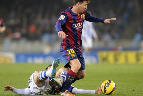 Lionel Messi y compañía intentaron reaccionar en el partido, pues pese a...