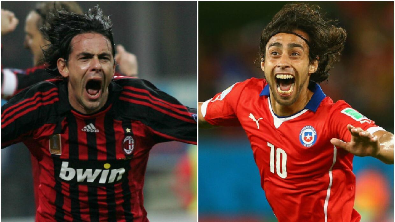 Dos aficionados rindieron homenaje a los dos futbolistas.