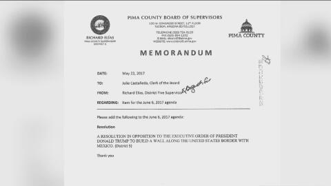 El condado Pima y la ciudad de Tucson aprueban una resolución en contra...