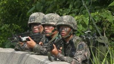 El Ejército de Corea del Sur capturó este lunes a un soldado que mató a...
