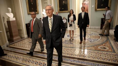 Mitch McConnell, líder de la mayoría republicana en el Sen...