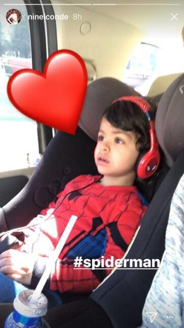 Manuel hijo de Ninel Conde de Spiderman
