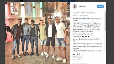 Jugadores mexicanos en Portugal se reúnen y presumen fotografía en redes sociales