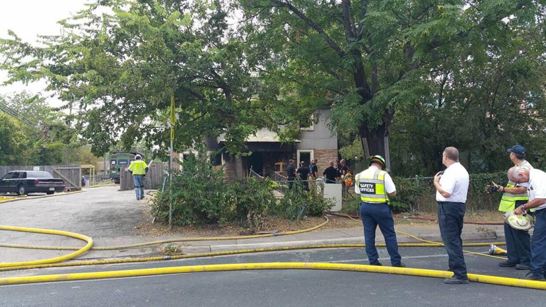 Se incendia casa de asistencia