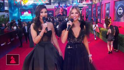Thalía regresó a los Latin GRAMMY y lució espectacular junto a Chiquinquirá Delgado
