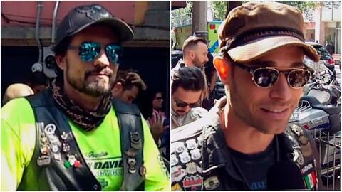 Sebastián Rulli y Diego Olivera nos mostraron sus exuberantes motocicletas