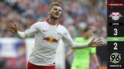 Mira los golazos del espectacular juego en el que el Leipzig se impuso al Hannover
