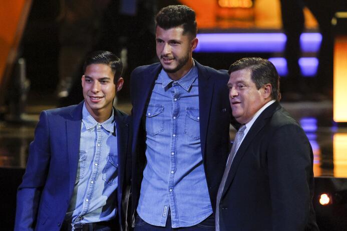 Ellos son los ganadores del Balón de Oro Diego Lainez y Guido Rodriguez...