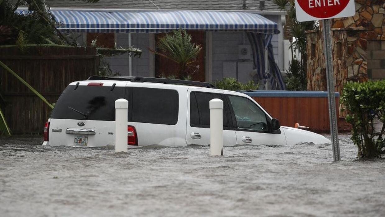 El nivel de las aguas en Port Orange, Florida.