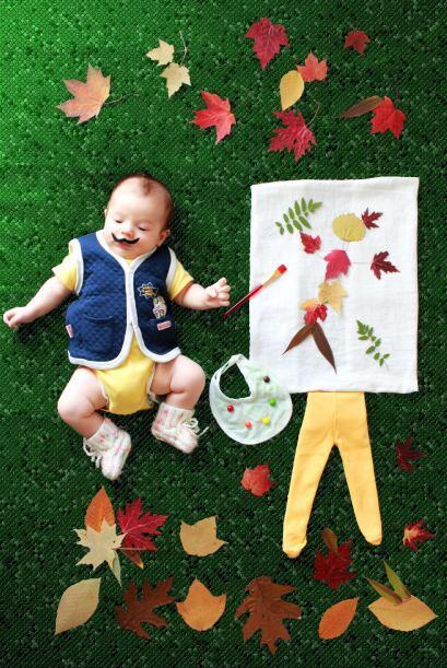 Los padres de Alp crearon un albúm muy especial de su bebé con estas bel...