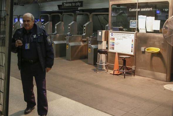 Así que no había un gran aforo en la estación de tren.