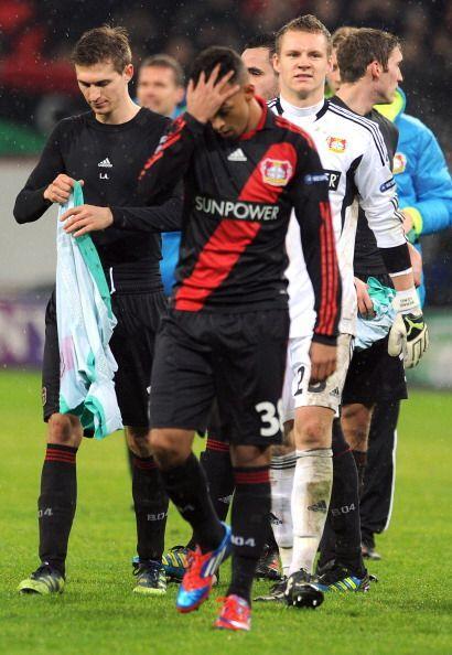 Al final, las caras de preocupación en los jugadores del Leverkusen eran...