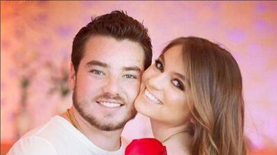 Sofía Castro y su novio