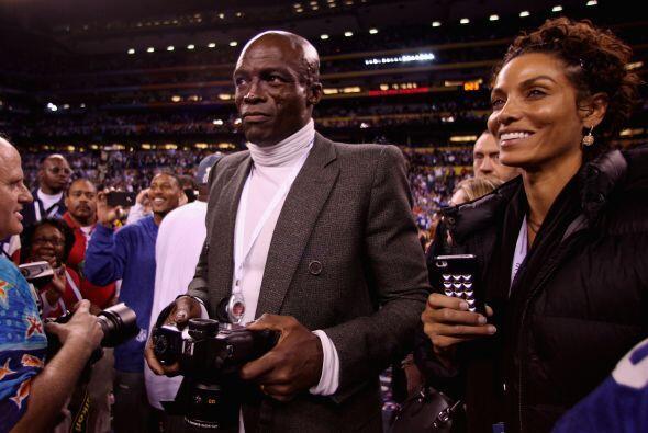 El cantante Seal aprovechó la oportunidad de fotografiar a los Giants en...