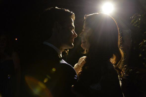 Vanessa y Jorge intercambiaron sus primeras palabras como esposos.
