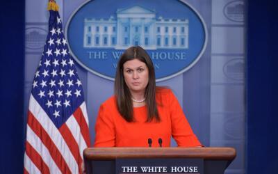 Sarah Huckabee Sanders, la nueva secretaria de prensa de la Casa Blanca...