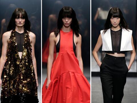 La diseñadora Vera Wang presentó su colección prima...