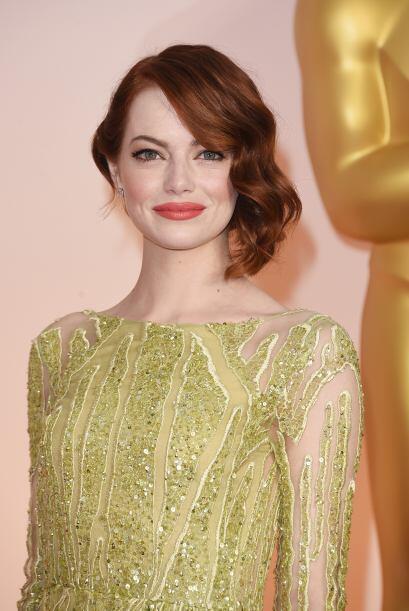 Emma Stone fue ovacionada por la manera tan espectacular de lucir fresca...