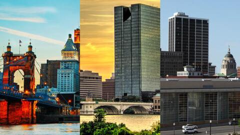 Cincinnati, Toledo and Fort Wayne (from left to right) are some of the c...
