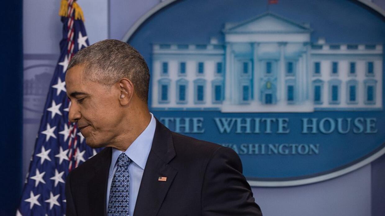 Barack Obama en su última rueda de prensa.