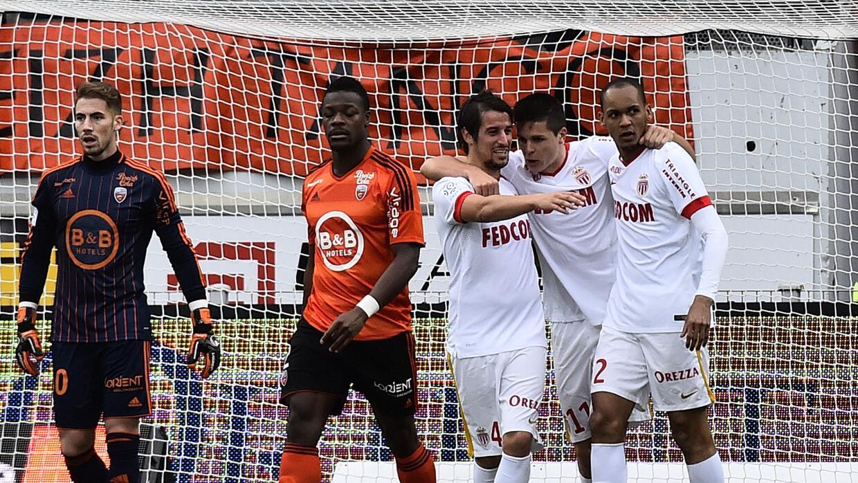 Mónaco derrotó 2-0 al Lorient