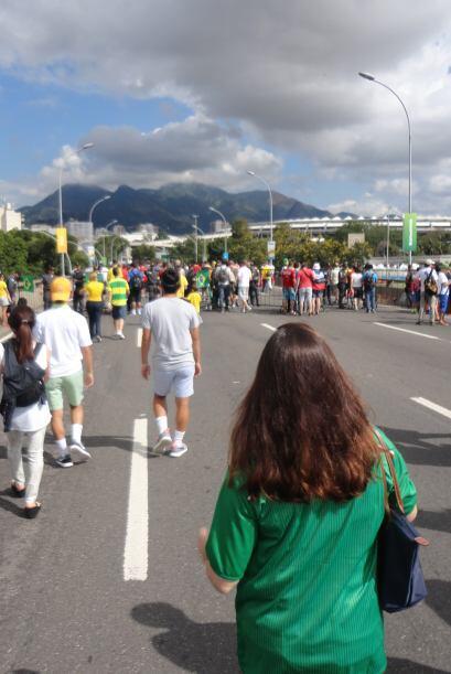 No había acceso a vehículos alrededor del estadio de Maracaná los días d...