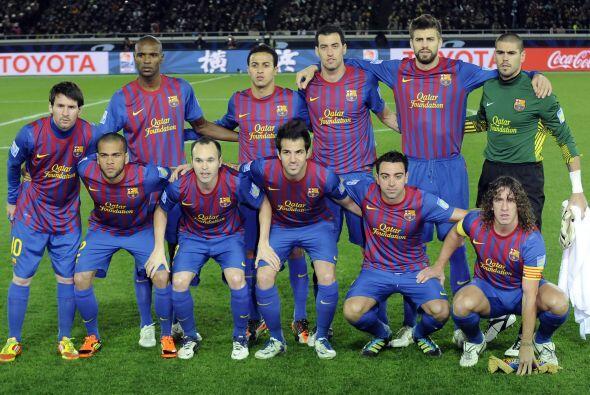 Barcelona: Valdes; Alves, Mascherano, Piqué, Puyol; Busquets, Xavi, Inie...