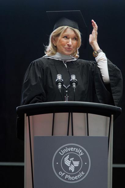 La afamada Martha Stewart llevó en 2010 un discurso inspirador sobre la...