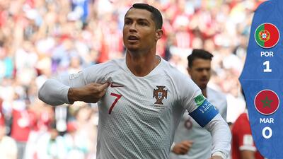 Cristiano Ronaldo volvió a ser la guía de Portugal en el polémico triunfo ante Marruecos