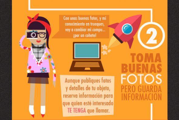 2. Toma buenas fotos de tu objeto pero guarda información.