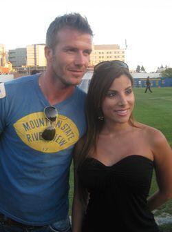 Por ahí llegó David Beckham a ver a Natalia.