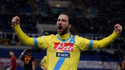 Higuaín puso la diferencia contra el Milan, en el tiunfo del Napoles.