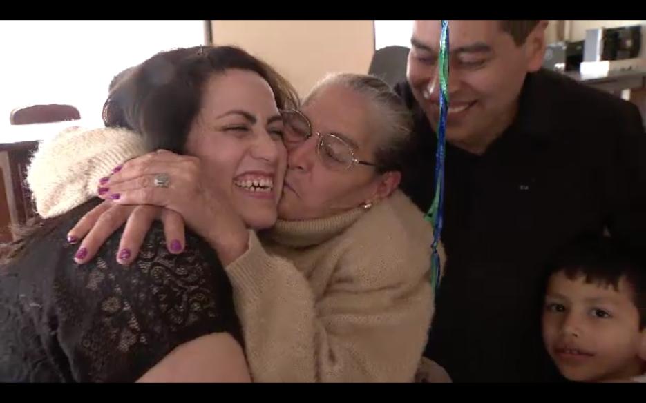 Las familias se reunieron gracias al programa Corazón de Plata.
